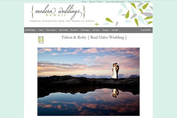 Featured Destination Wedding :: Felicia + Roby, Hawaii
