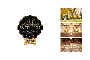 Featured wedding on Wedluxe