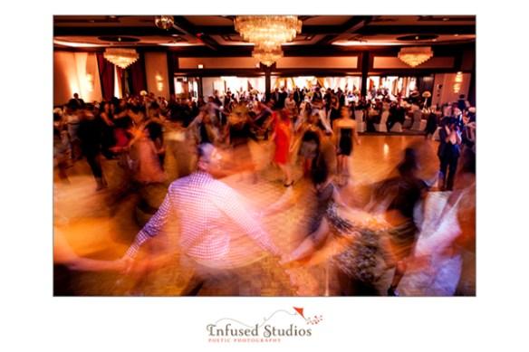 Motion blur on dance floor