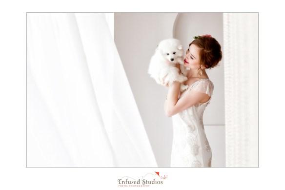 Paris inspired styled wedding shoot by Edmonton wedding photographers :: embroidered wedding dress creative shot