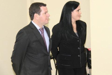 El Ing. Diego C. Ortiz Arza y la Ing. Silvana R. Ibañez Candia
