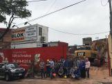 Estudiantes de FIUNA realizan visita técnica a una obra de un edificio en altura