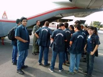 Estudiantes del IPT realizan visita técnica a la Base Aérea de la Fuerza Aérea Paraguaya