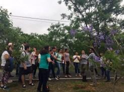 Estudiantes de la carrera de Ingeniería Geográfica y Ambiental de la FIUNA realizaron una visita técnica al Parque Guazú Metropolitano.
