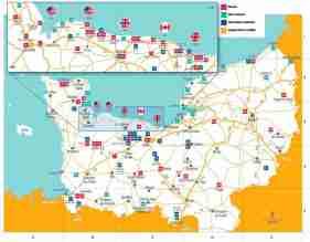 Mapa Normandia