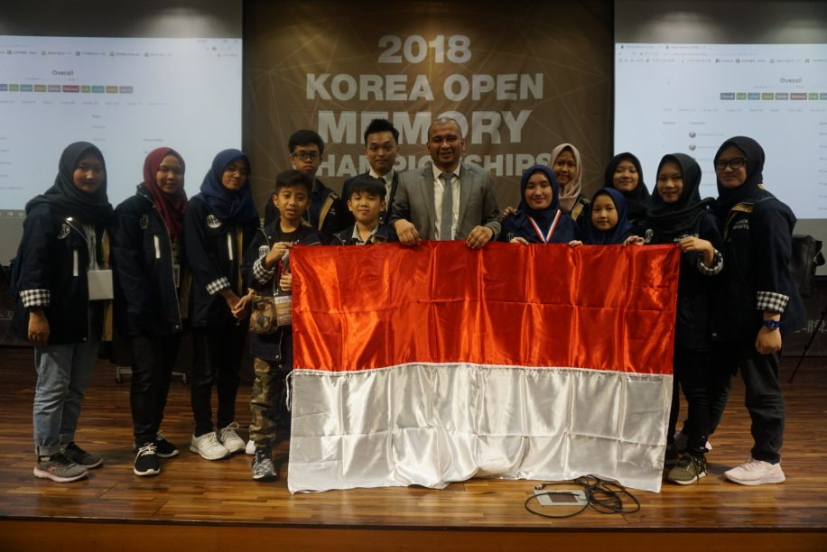 Team of Indonesian students place second in Korea's Open Memory Championship