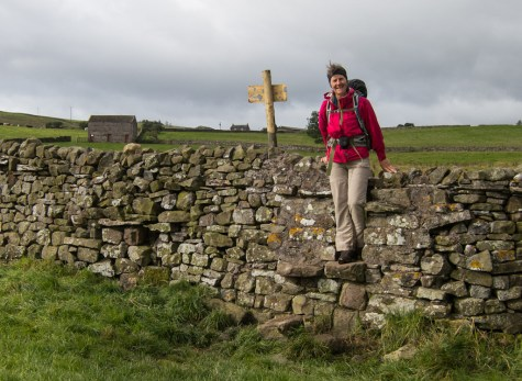 Stone wall with stile