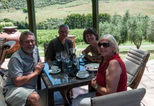 Lunch at a winery on Waiheke