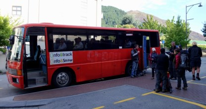 Bus to the Routeburn track