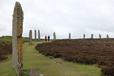 Ancient standing stones at the Ring of Brodgar