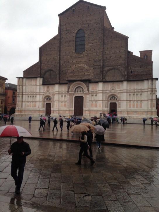 Basilica of San Petronio in the Plaza Maggiore