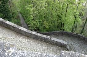 Paved walk up to Santuario della Verna