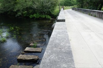 New bridge beside the old stepping stones.