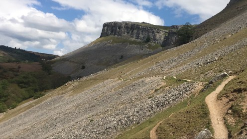 Path across a scree slope