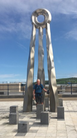 A sculpture at the seaside in Prestatyn marking the end of the walk