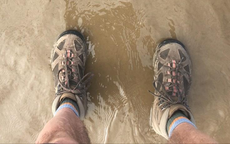 Boots in the Irish Sea