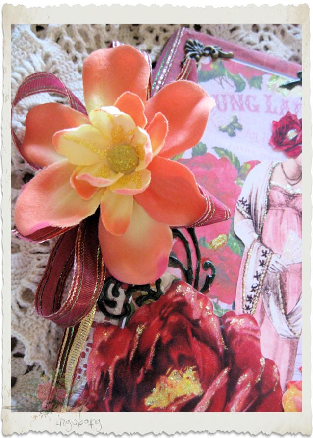 Flower decoration on ladies journal