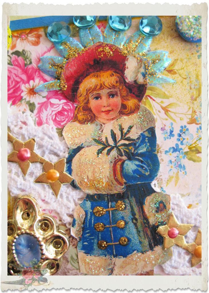 Victorian snow fairy girl