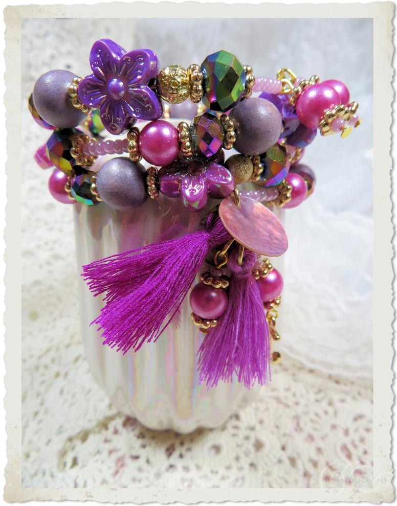 Purple magenta pink beads - Paarse kralen