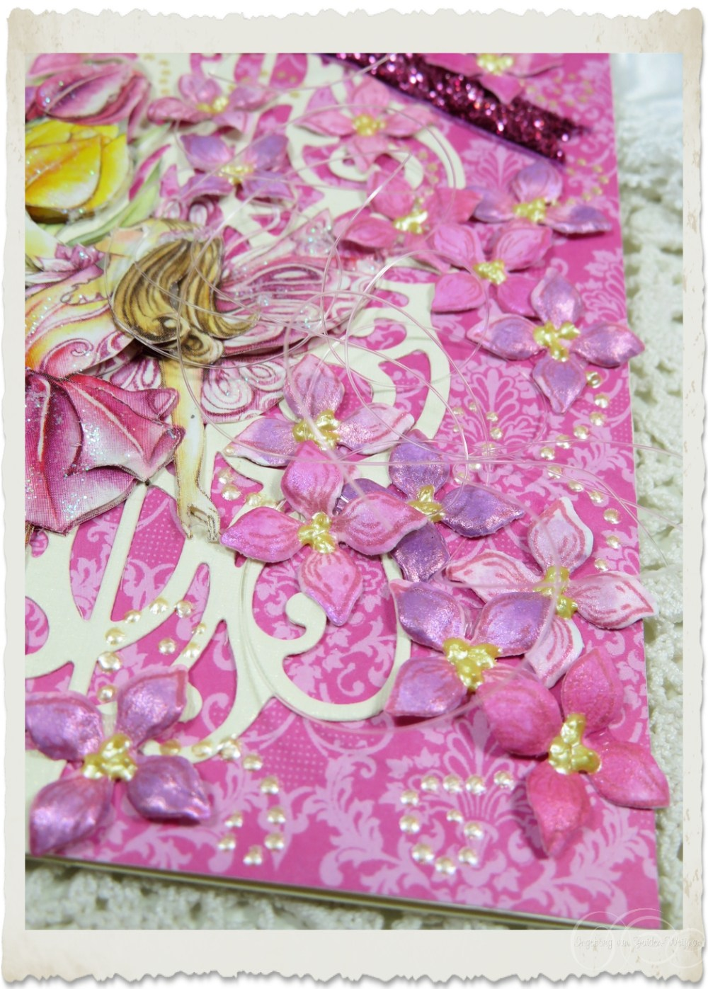 Lilacs by Ingeborg created with Heartfelt Creations stamps and dies