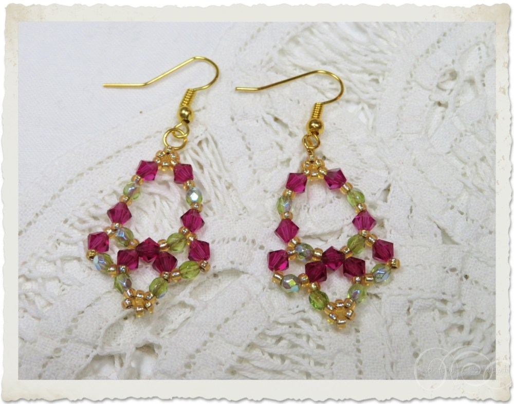 Handmade beadwoven earrings