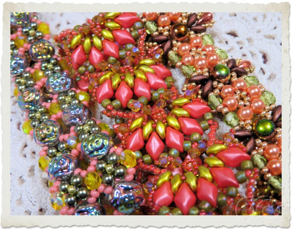 Details of bling bling bracelets