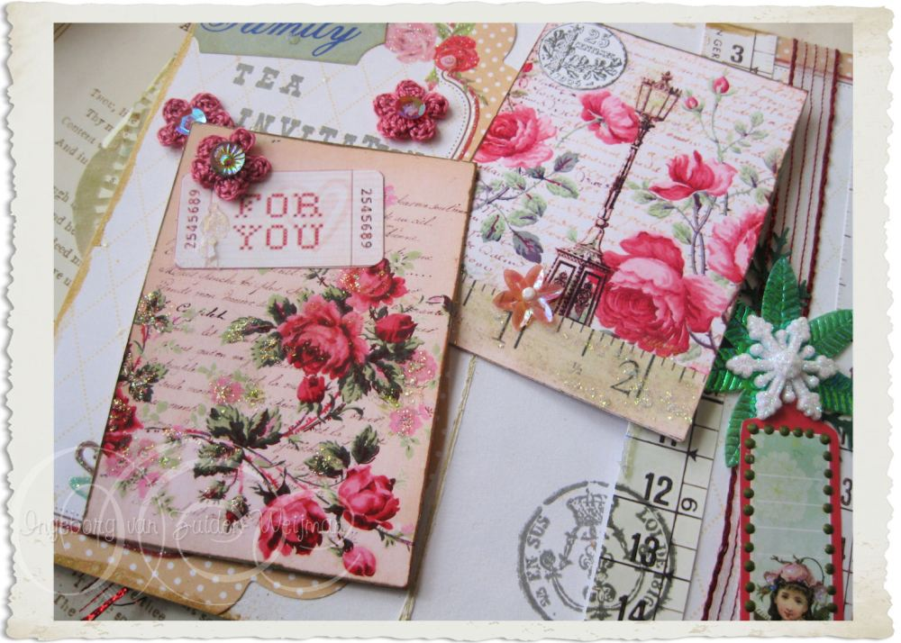 Insertable floral notecards