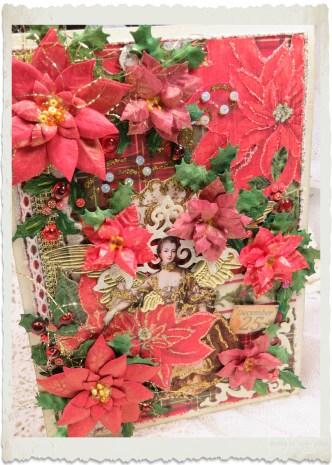 Handmade vintage style Christmas card by Ingeborg van Zuiden
