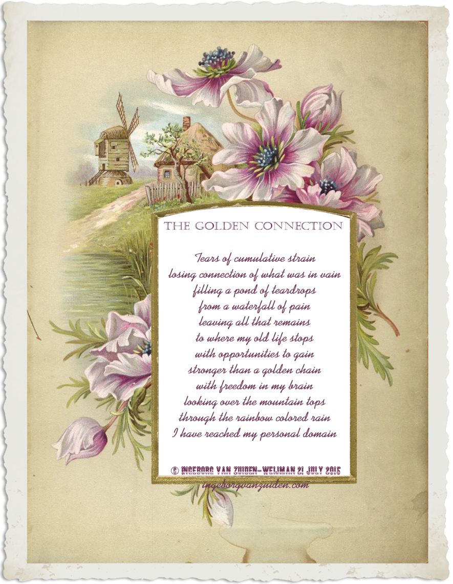 Poem 'The Golden Connection' by Ingeborg van Zuiden