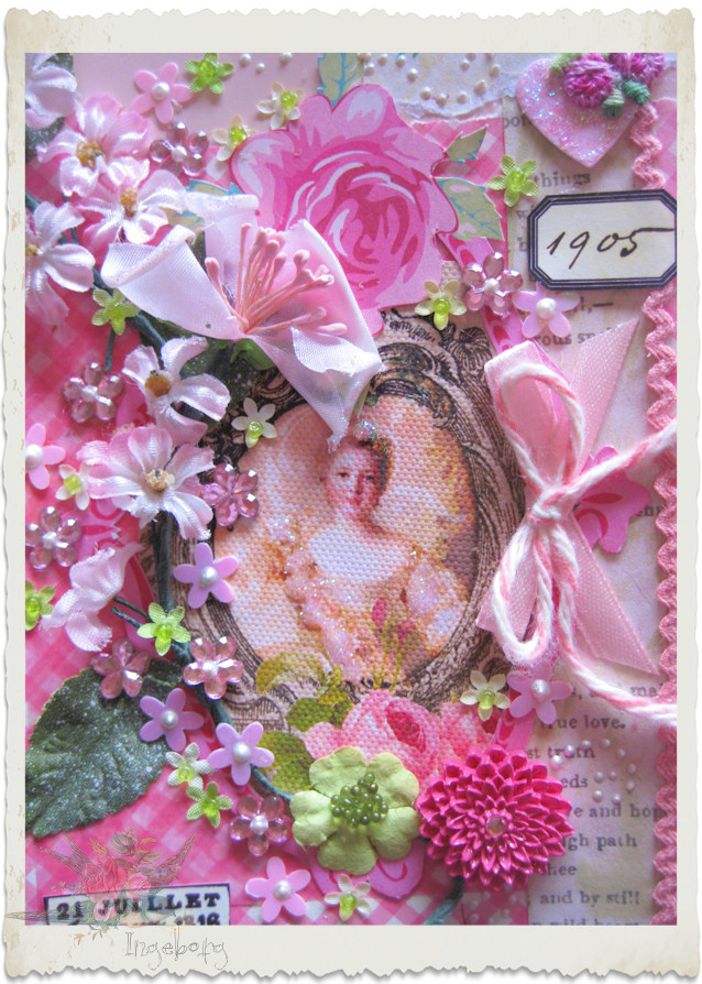Details of Marie pink card