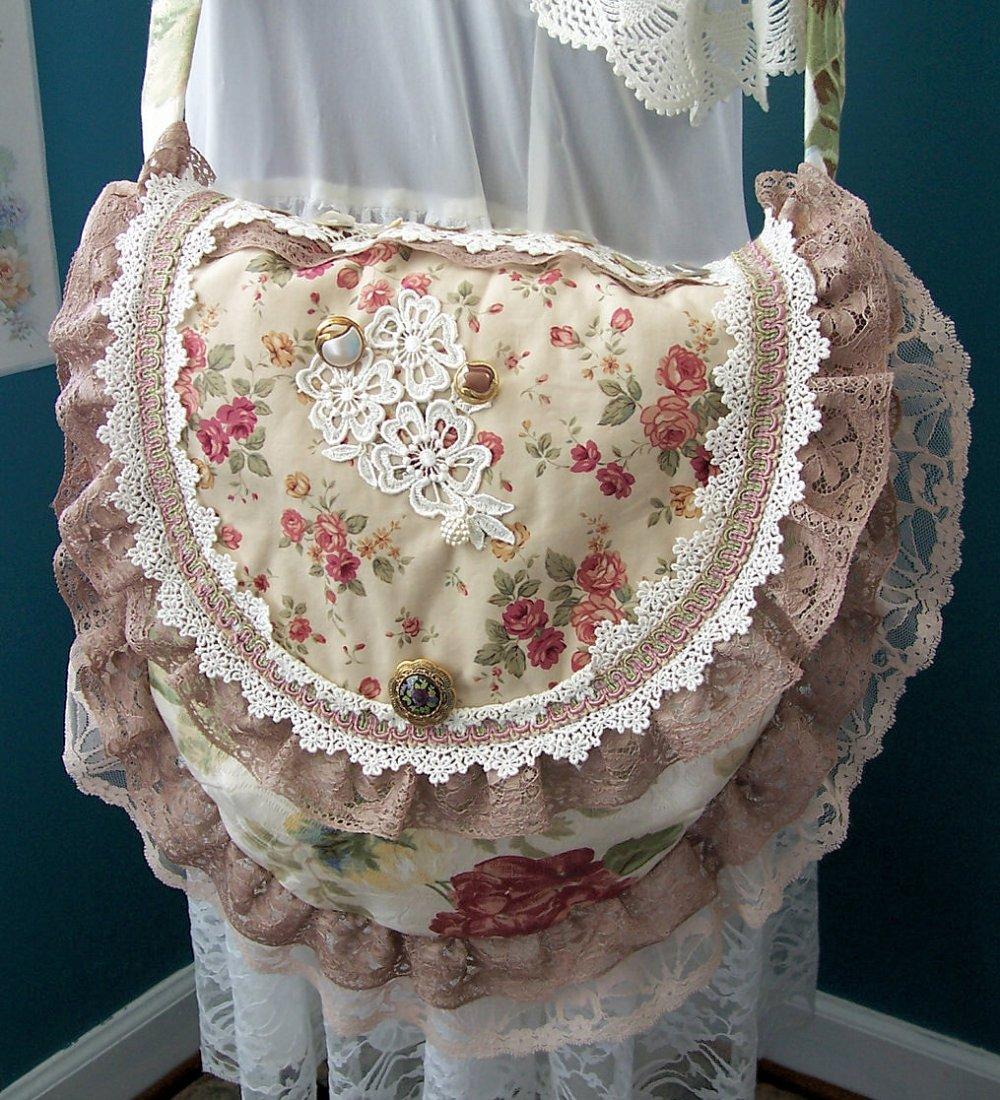 Floral handbag before addinge more embellishments