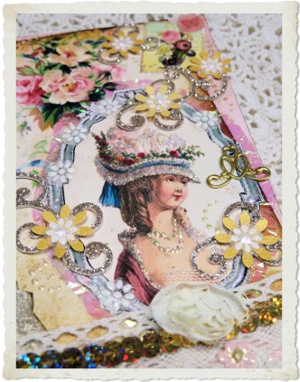 Marie-Antoinette with punch flowers
