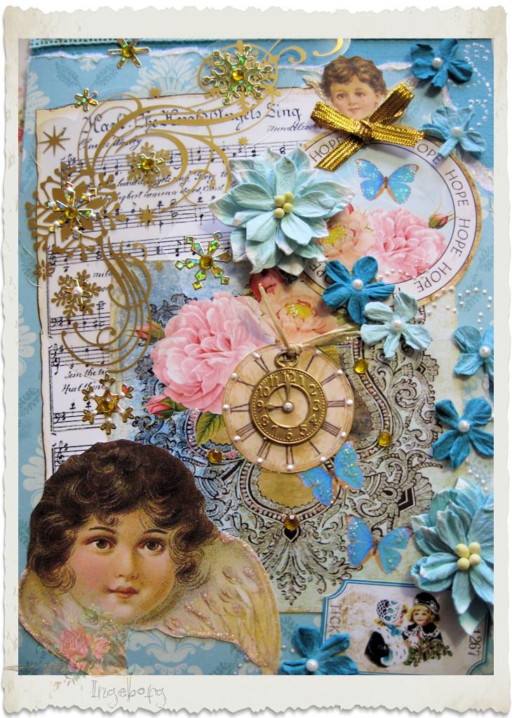 Handmade vintage Christmas card by Ingeborg van Zuiden
