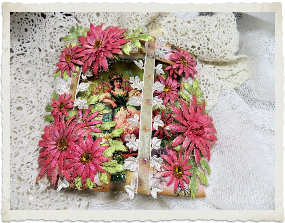 handmade fairy card with Heartfelt Creations Wild Asters flowers by Ingeborg van Zuiden