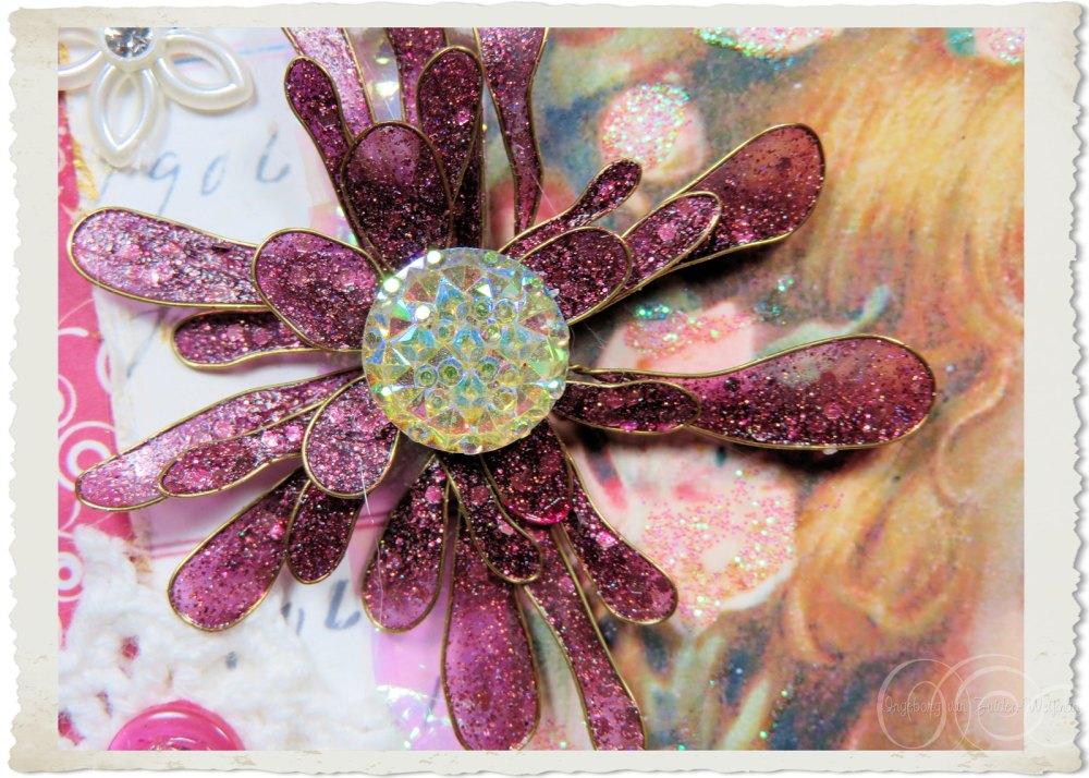 Handmade glitter flower