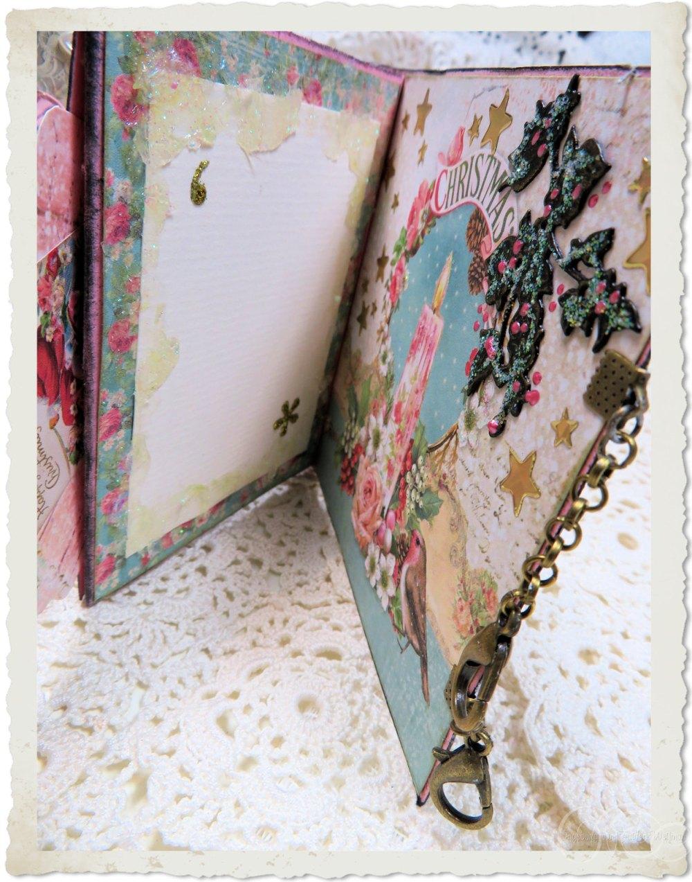 Inside notecard of handmade Christmas book by Ingeborg