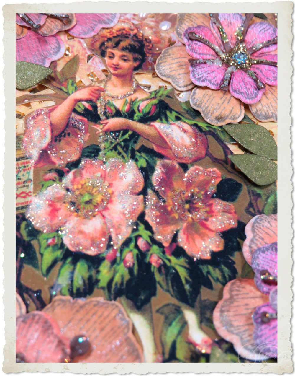 Liebig fairy with vintage roses