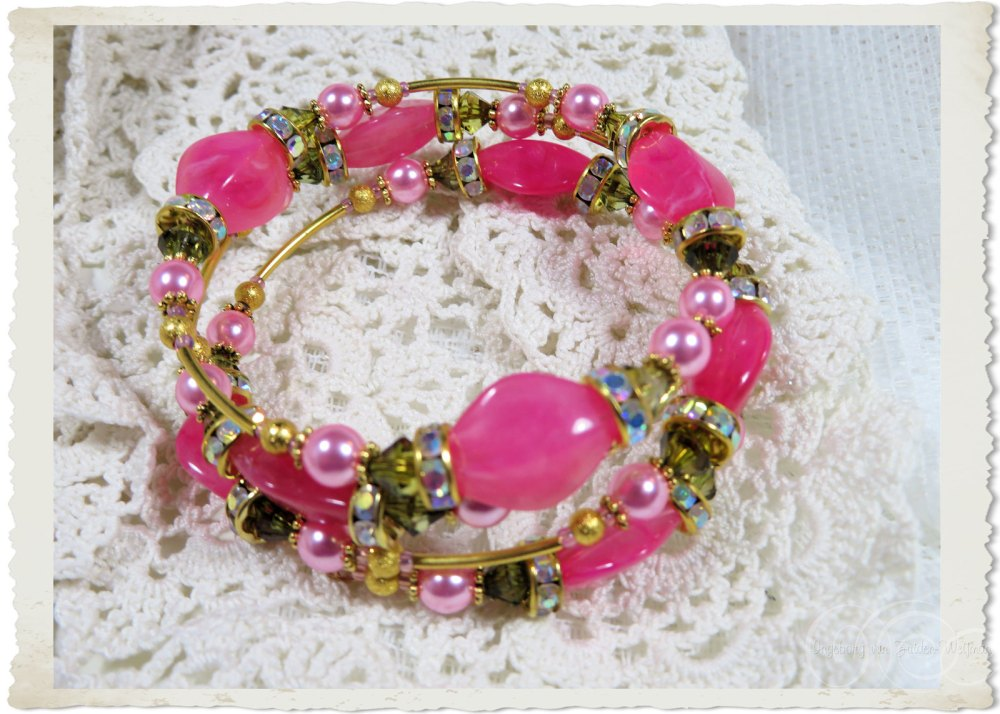 Pink beads and bling
