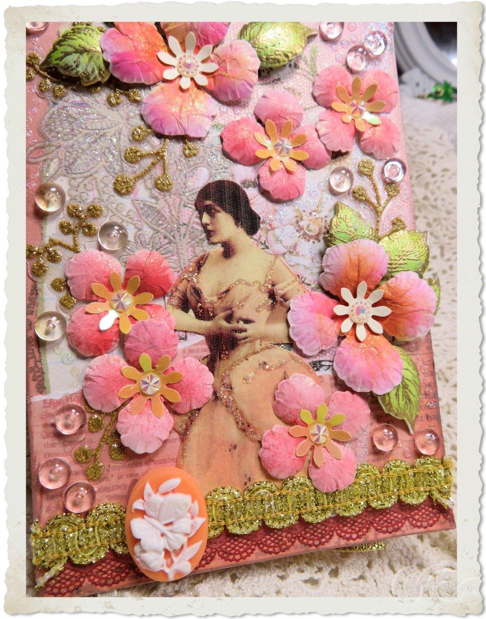 Pink peach Oakberry Lane flowers by Ingeborg van Zuiden