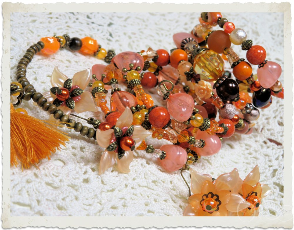 Handmade orange bracelets
