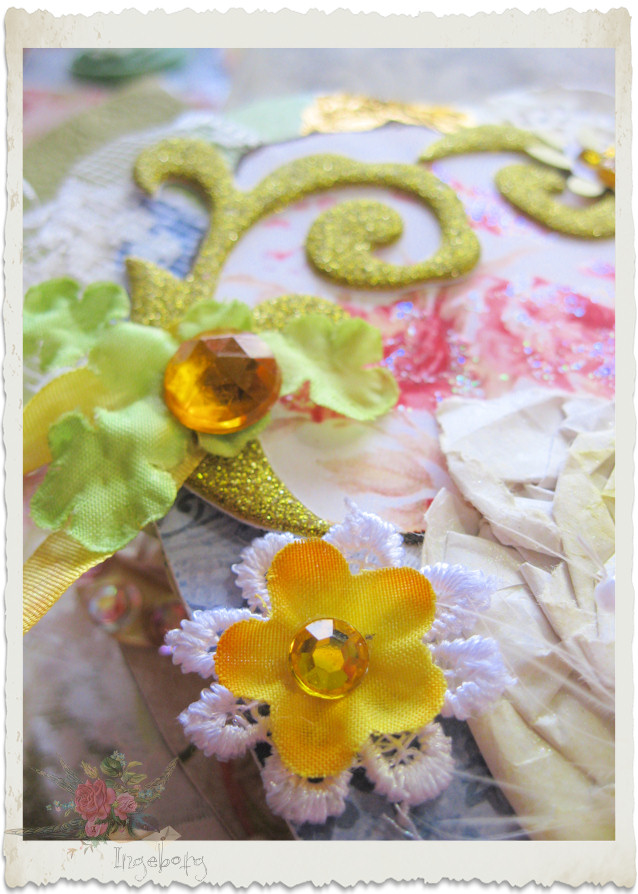 Yellow flowers and bling