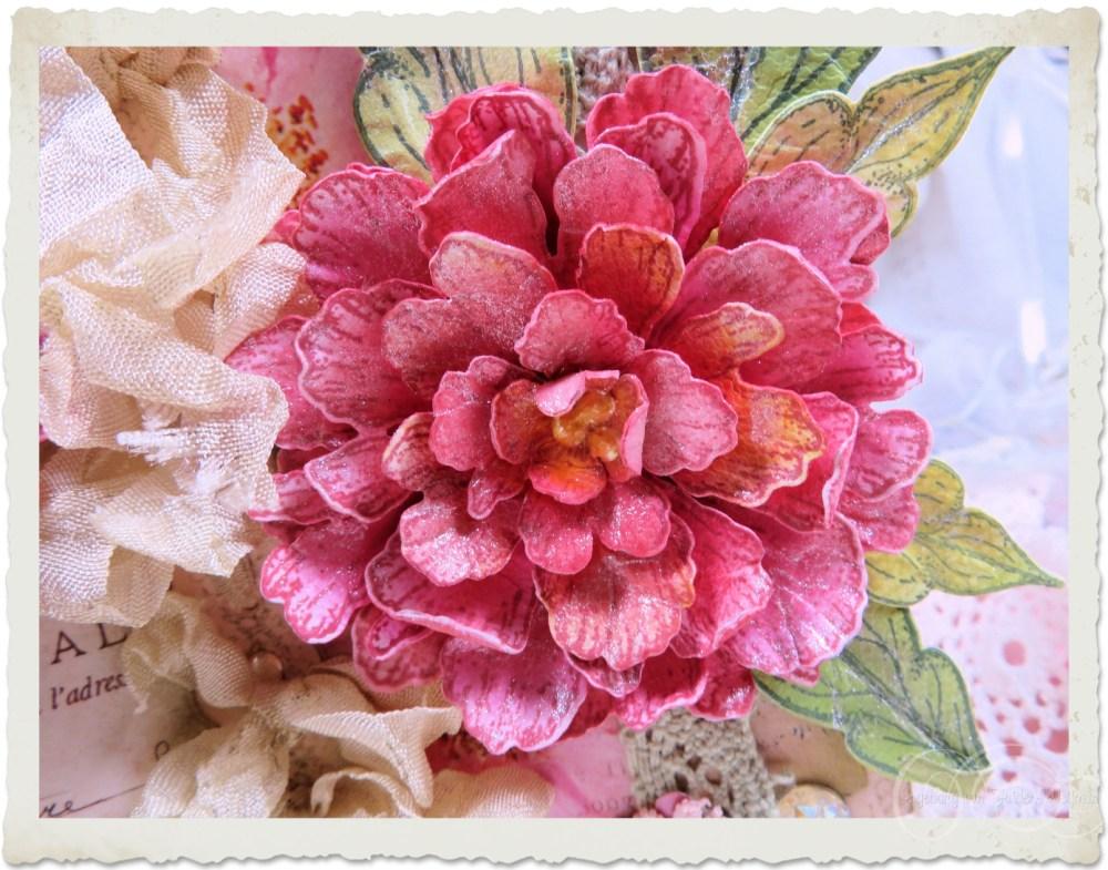 Pink Peony flower by Ingeborg van Zuiden