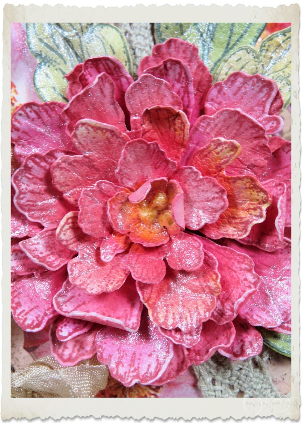 Pink paper peony by Ingeborg