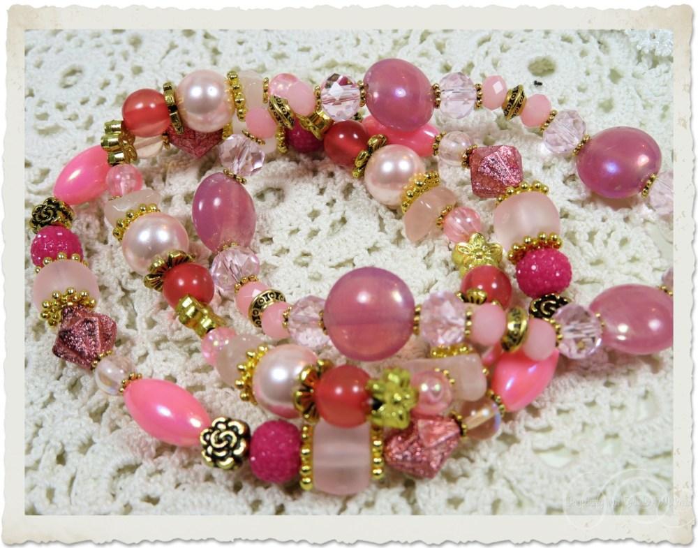 Pink bracelets by Ingeborg