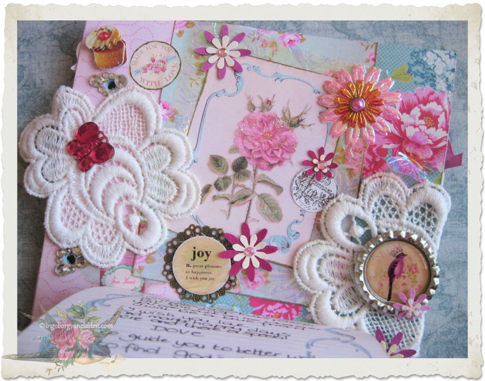 Inside message with lace and wordart
