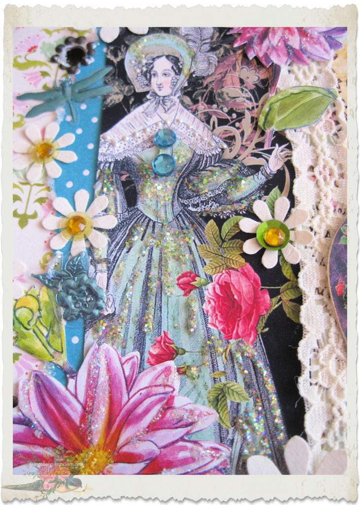 Regency lady with blue dress