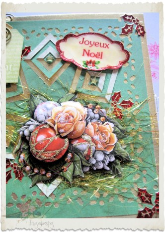 Details of handmade Christmas card
