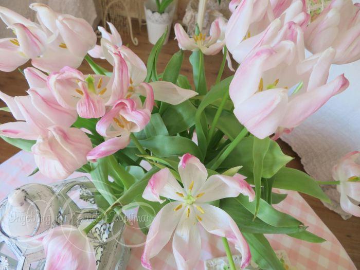 Pastel pink tulips