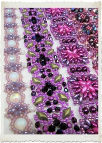 Purple magenta superduo/gemduo bracelets