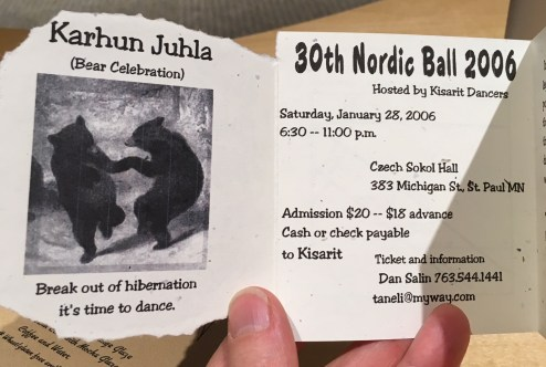 2006 Nordic Ball program Bear theme inside